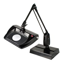Dazor Stretchview 33-Inch Desk Base LED Magnifier - 16D 5X - Black