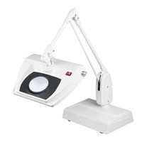 Dazor Stretchview 33-Inch Desk Base LED Magnifier - 16D 5X - White