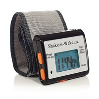 Shake-n-Wake ZZZ Vibrating Alarm Clock Watch - Black