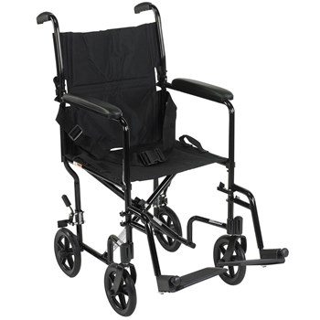 Drive Deluxe Lightweight Transport Chair- Black