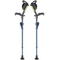 Ergobaum Ergonomic Forearm Crutches - Adult - Blue