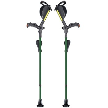 Ergobaum Ergonomic Forearm Crutches - Adult - Green
