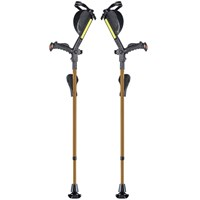 Ergobaum Ergonomic Forearm Crutches - Adult - Gold-Tone