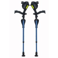 Ergobaum Junior Ergonomic Forearm Crutches - Juvenile -Blue
