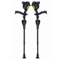 Ergobaum Junior Ergonomic Forearm Crutches - Juvenile - Black