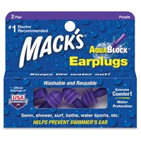 Macks AquaBlock Ear Plugs - 2 Pair Purple
