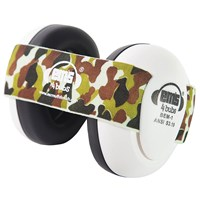 Ems 4 Bubs Baby Hearing Protection White Earmuffs - Army Camo