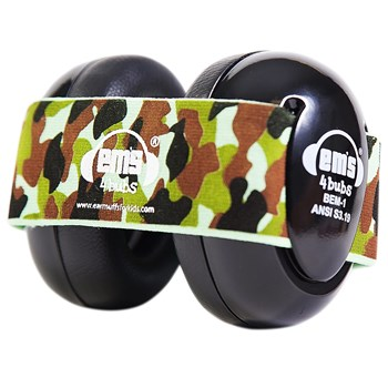 Ems 4 Bubs Baby Hearing Protection Black Earmuffs - Army Camo