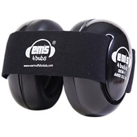 Ems 4 Bubs Baby Hearing Protection Black Earmuffs- Black