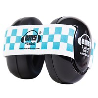 Ems 4 Bubs Baby Hearing Protection Black Earmuffs - Blue-White