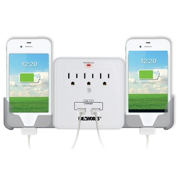 USB Outlet Multiplier Surge Protector