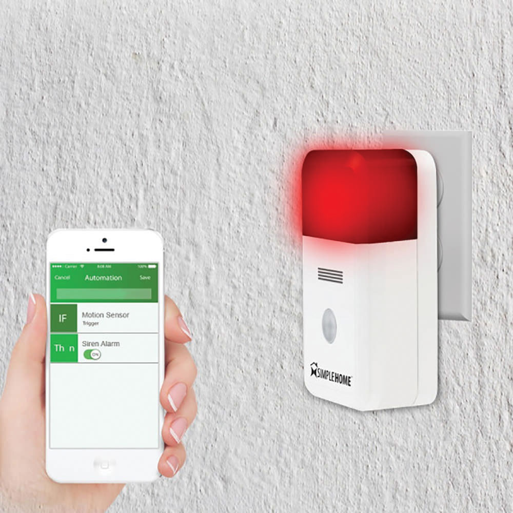 home automation alarm. simple home smart wifi alarm siren automation