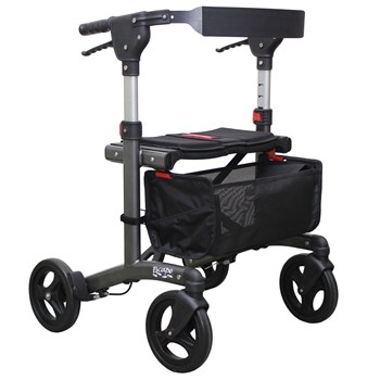 Escape Rollator- Super Low 19 in. Seat Height- Charcoal