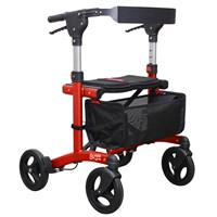 Escape Rollator - Low 21 in. Seat Height - Red