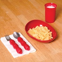 Dinnerware in High-Contrast Red Color- 4-Piece Set
