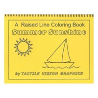 Summer Sunshine - A Raised Line Coloring Book