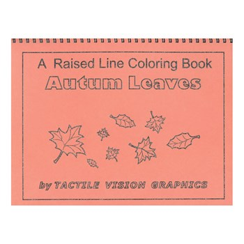 Autumn Leaves - Raised Line Coloring Book, Level 2