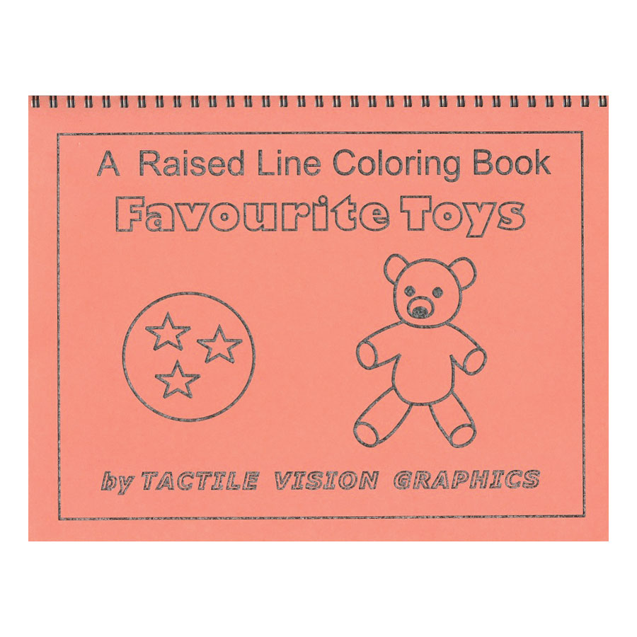 favourite toys raised line coloring book level 1