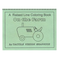 On the Farm - Raised Line Coloring Book, Level 1