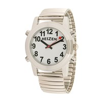 Reizen Talking Watch - White Face - Expansion Band - English