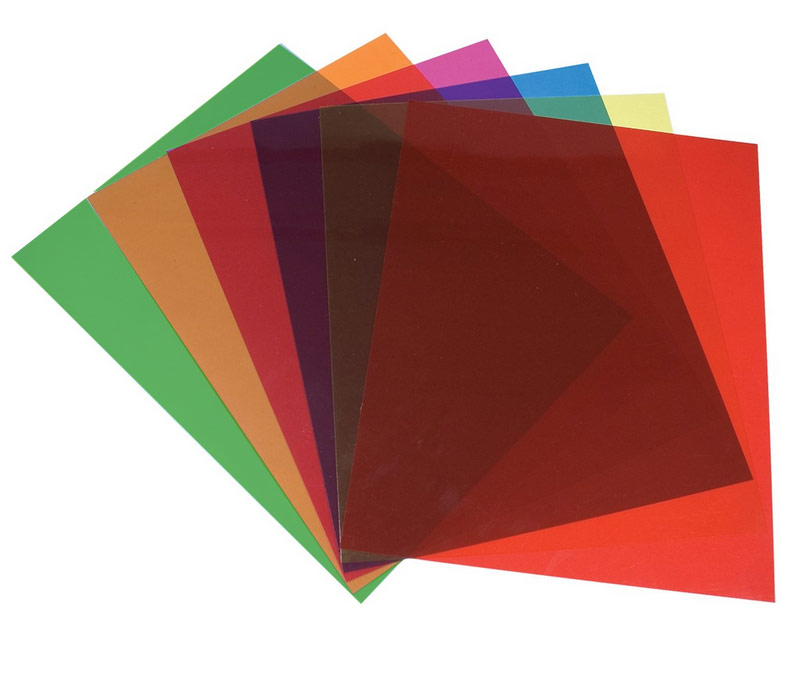 MaxiAids | Tinted Plastic Reading Sheets, Set of 5
