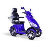E-Wheels EW-72 4-Wheel Electric Senior Mobility Scooter - Blue