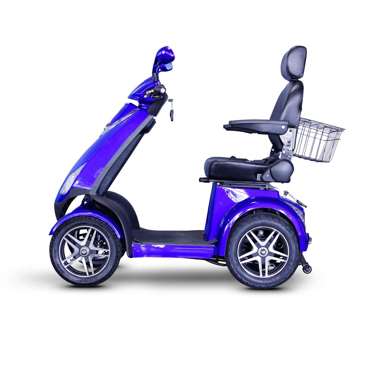 Maxiaids E Wheels Ew 72 4 Wheel Electric Senior Mobility Scooter Blue