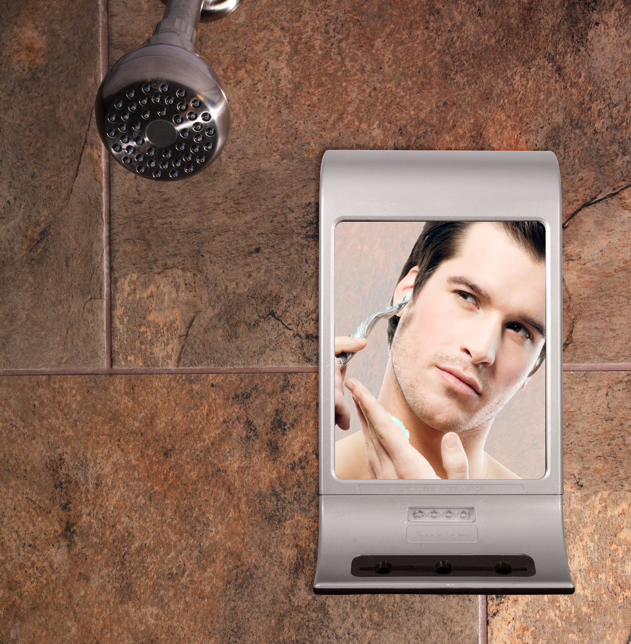 Maxiaids Z Fogless Water Mirror Stainless Steel Finish