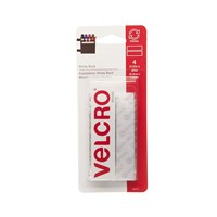 VELCRO Brand Sticky Back - 3.5 in. x 0.75 in. Strips 4 Sets - White