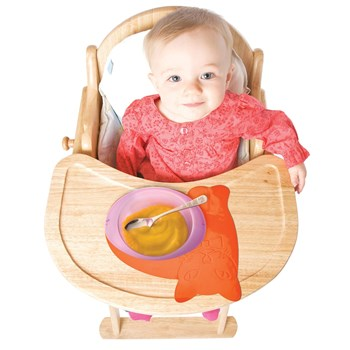Tenura Non-Slip Childrens Mat - Orange Cat