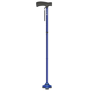 HurryCane Freedom Edition Folding Standing All Terrain Cane - Blue