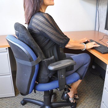 CustomAIR Backrest Support with Adjustable Lumbar Support