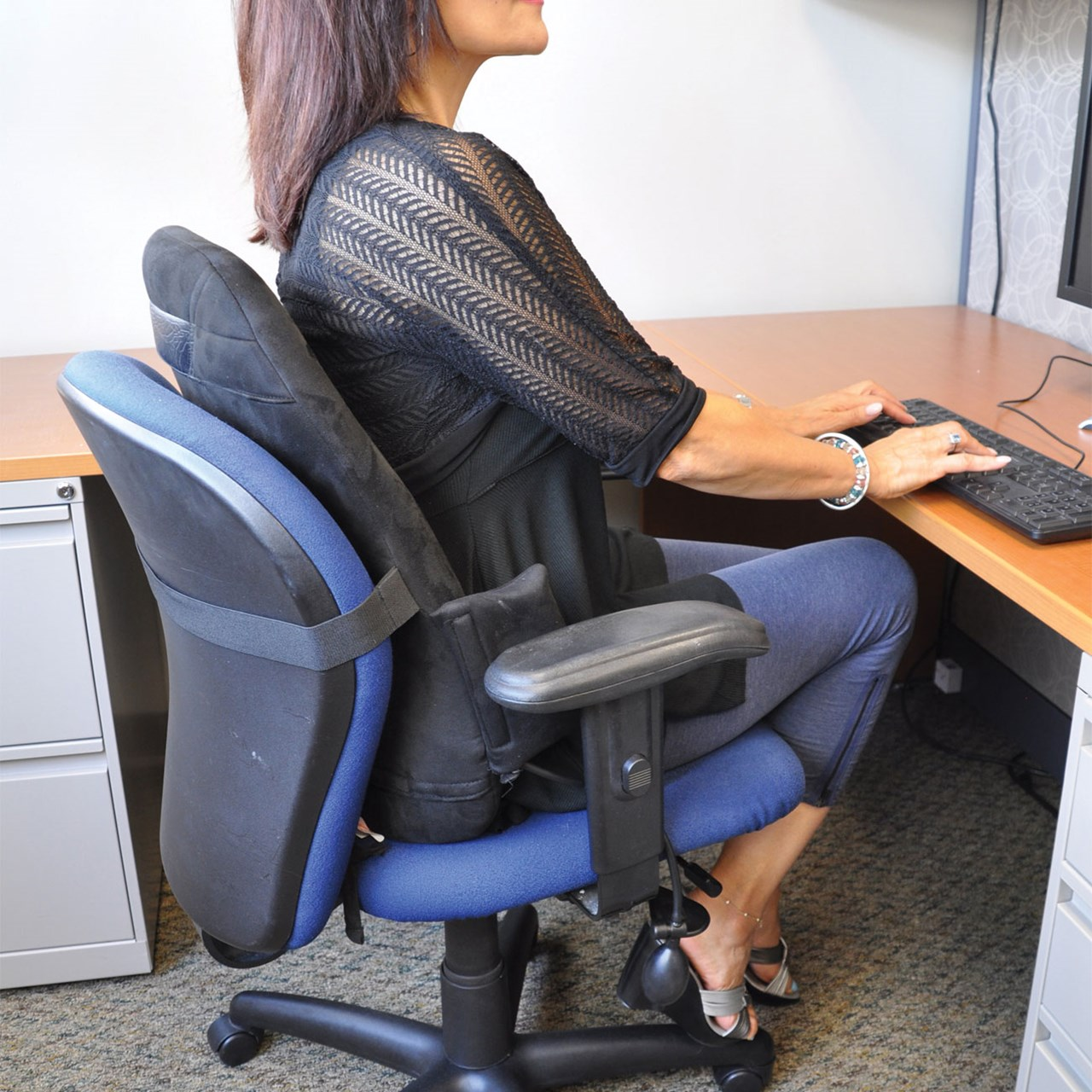 Obusforme Customair Backrest Support With Adjustable Lumbar Support