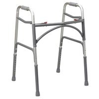 Heavy Duty Bariatric Aluminum 2 Button Folding Walker - Adult