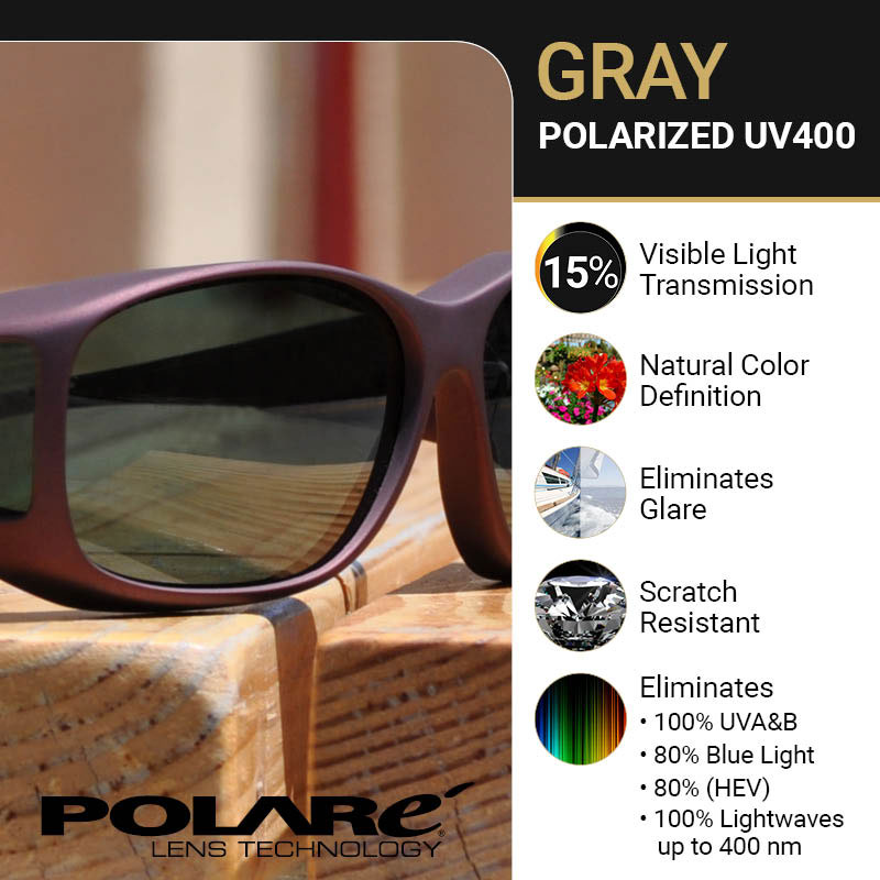 76bc0260343f MaxiAids   Cocoons Slim Line M Polarized Sunwear-Blk Frame-Gray Lens