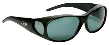 Element Matte Black Fit Over Sunglasses - Polarvue Gray