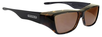 Neera Leopard Black Fit Over Sunglasses - Polarvue Amber