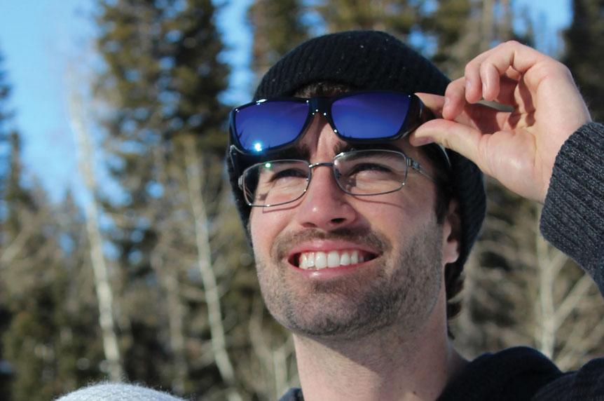 7aef546e5b ... Neera Midnite Oil Fit Over Sunglasses - Polarvue Blue Mirror