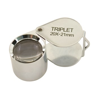 20x 21mm Folding Jeweler Loupe - Silver Chrome