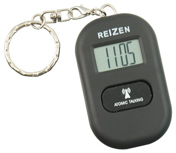 Reizen Talking Atomic Watch Keychain - Black