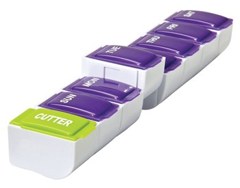 Detach-N-Go 7 Day Pill Organizer Plus Cutter