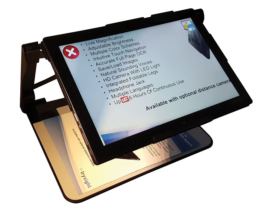 Mercury 12 Laptop Tablet Magnifier With Ocr Sch