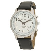 Mens Touch Talking Watch- Large Face- Leather Band- English