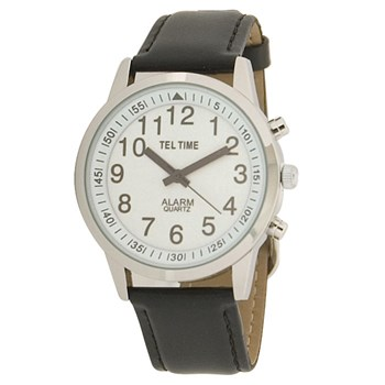 Mens Touch Talking Watch - Large Face - Leather Band - English