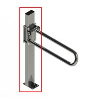 HealthCraft PT Rail Floor Mast - Stainless Steel