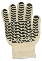 Oven Glove with Black Non-Slip Silicone Grip- XL
