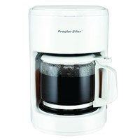 Proctor Silex 10-Cup Auto Pause and Serve Coffee Maker - White