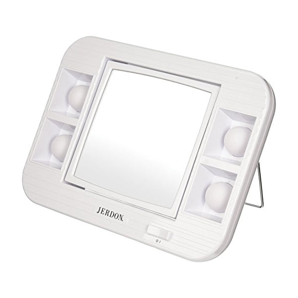 Lighted Makeup Mirror With Magnification.Led Lighted Makeup Mirror With 5x Magnification White