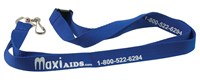 MaxiAids Lanyard with Metal Swivel Snap Hook- Blue