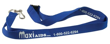 MaxiAids Lanyard with Metal Swivel Snap Hook - Blue